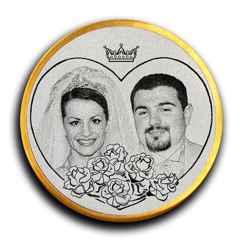 Медаль в честь бракосочетания Ровшана и Юли